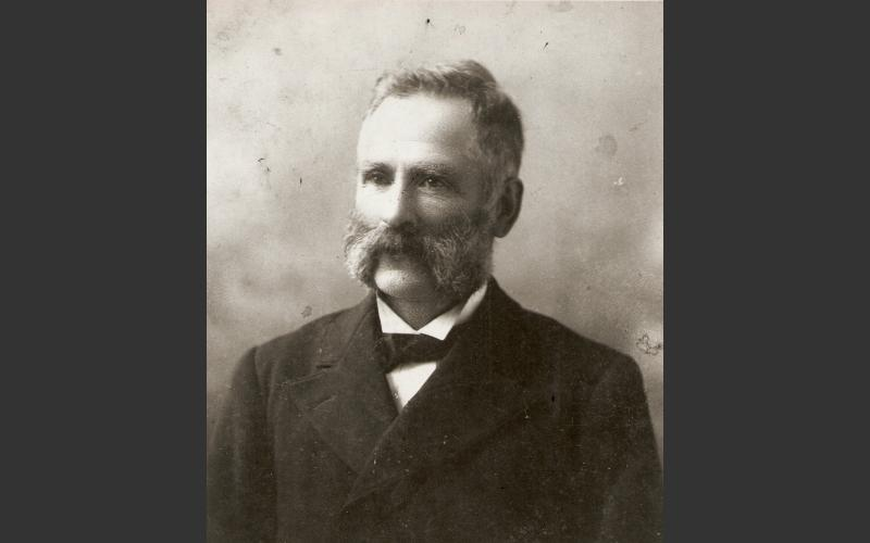 John (Jr.) Mackay, brother of Alexander Mackay who built the mill in 1874. John helped his brother and his initials can still be seen carved in the stone foundation next to his brother's above the fireplace in the basement of the mill.